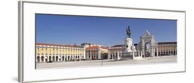 Arco da Rua Augusta triumphal arch, King Jose I Monument, Praca do Comercio, Baixa, Lisbon, Portuga-Markus Lange-Framed Photographic Print