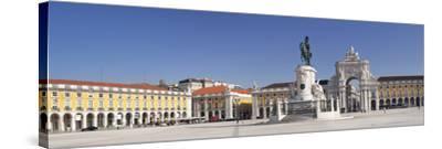 Arco da Rua Augusta triumphal arch, King Jose I Monument, Praca do Comercio, Baixa, Lisbon, Portuga-Markus Lange-Stretched Canvas Print