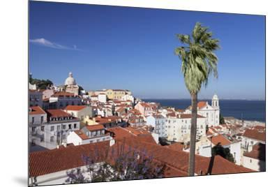 View from Santa Luzia viewpoint over Alfama district to Tejo River, Lisbon, Portugal, Europe-Markus Lange-Mounted Photographic Print
