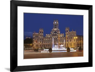 Plaza de la Cibeles, Fountain and Palacio de Comunicaciones, Madrid, Spain, Europe-Markus Lange-Framed Photographic Print