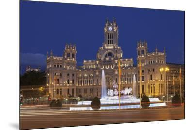 Plaza de la Cibeles, Fountain and Palacio de Comunicaciones, Madrid, Spain, Europe-Markus Lange-Mounted Photographic Print