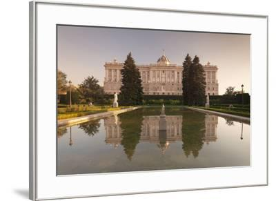 Royal Palace ( Palacio Real), view from Sabatini Gardens (Jardines de Sabatini), Madrid, Spain, Eur-Markus Lange-Framed Photographic Print