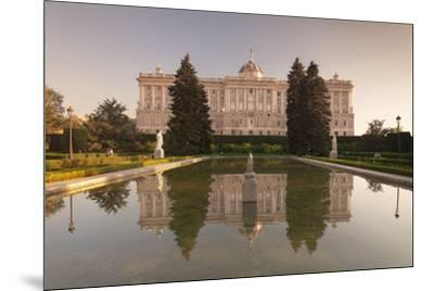 Royal Palace ( Palacio Real), view from Sabatini Gardens (Jardines de Sabatini), Madrid, Spain, Eur-Markus Lange-Mounted Photographic Print