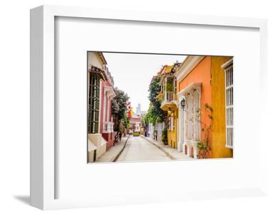 Old Town, Cartegena, Colombia, South America-Laura Grier-Framed Photographic Print