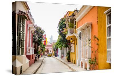 Old Town, Cartegena, Colombia, South America-Laura Grier-Stretched Canvas Print