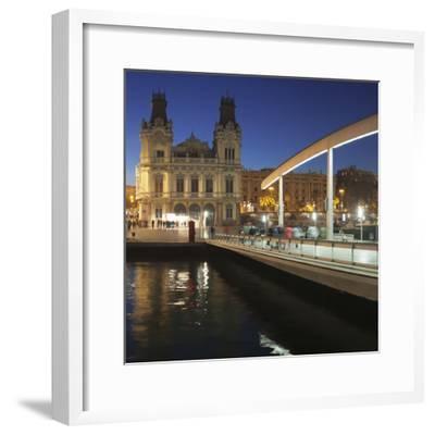 Rambla del Mar at Port Vell, Barcelona, Catalonia, Spain, Europe-Markus Lange-Framed Photographic Print