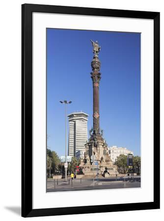 Columbus Monument (Monument a Colom), Placa del Portal de la Pau, Barcelona, Catalonia, Spain, Euro-Markus Lange-Framed Photographic Print