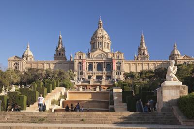 Palau Nacional (Museu Nacional d'Art de Catalunya), Montjuic, Barcelona, Catalonia, Spain, Europe-Markus Lange-Framed Photographic Print