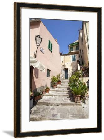 Ancient alley, Porto Azzurro, Elba Island, Livorno Province, Tuscany, Italy, Europe-Roberto Moiola-Framed Photographic Print