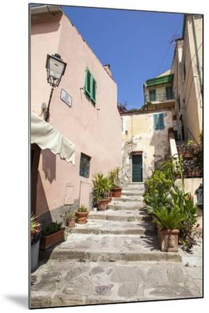 Ancient alley, Porto Azzurro, Elba Island, Livorno Province, Tuscany, Italy, Europe-Roberto Moiola-Mounted Photographic Print