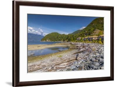 View of How Sound at Furry Creek off The Sea to Sky Highway near Squamish, British Columbia, Canada-Frank Fell-Framed Photographic Print
