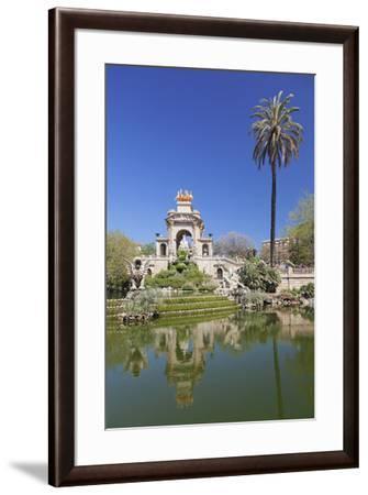 La Cascada, fountain with Quadriga de l'Auroa, architect Josep Fontsere, Parc de la Ciutadella, Bar-Markus Lange-Framed Photographic Print