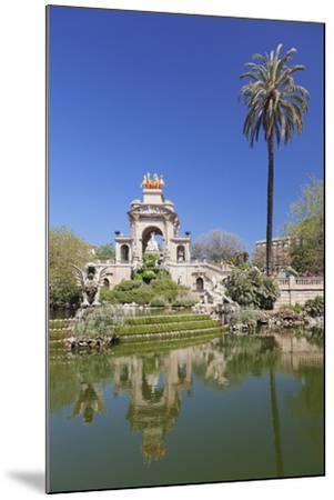 La Cascada, fountain with Quadriga de l'Auroa, architect Josep Fontsere, Parc de la Ciutadella, Bar-Markus Lange-Mounted Photographic Print