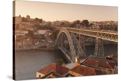 Ponte Dom Luis I Bridge, UNESCO World Heritage Site, Douro River, Porto (Oporto), Portugal, Europe-Markus Lange-Stretched Canvas Print