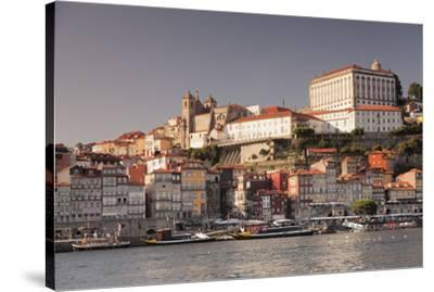 Ribeira District, UNESCO World Heritage Site, Se Cathedral, Palace of the Bishop, Porto (Oporto), P-Markus Lange-Stretched Canvas Print