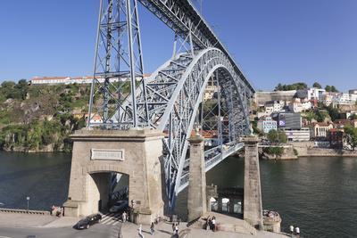 Ponte Dom Luis I Bridge, UNESCO World Heritage Site, Douro River, Porto (Oporto), Portugal, Europe-Markus Lange-Framed Photographic Print