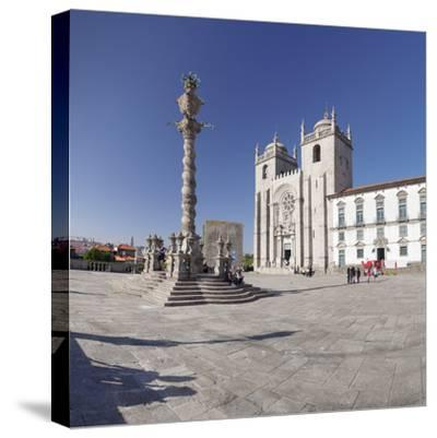 Pelourinho Column, Se Cathedral, Porto (Oporto), Portugal, Europe-Markus Lange-Stretched Canvas Print