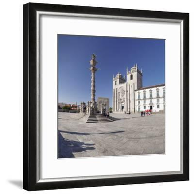 Pelourinho Column, Se Cathedral, Porto (Oporto), Portugal, Europe-Markus Lange-Framed Photographic Print