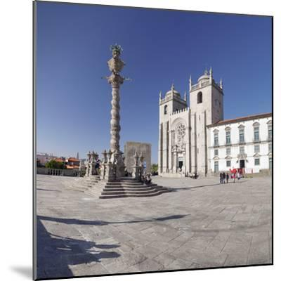 Pelourinho Column, Se Cathedral, Porto (Oporto), Portugal, Europe-Markus Lange-Mounted Photographic Print
