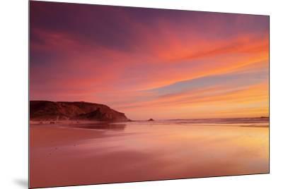 Praia do Amado beach at sunset, Carrapateira, Costa Vicentina, west coast, Algarve, Portugal, Europ-Markus Lange-Mounted Photographic Print