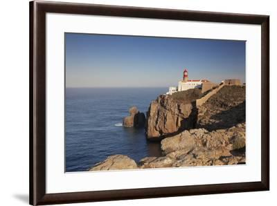 Lighthouse at sunrise, Cabo de Sao Vicente, Sagres, Algarve, Portugal, Europe-Markus Lange-Framed Photographic Print