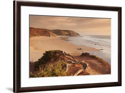 Praia do Amado beach at sunset, Carrapateira, Costa Vicentina, west coast, Algarve, Portugal, Europ-Markus Lange-Framed Photographic Print