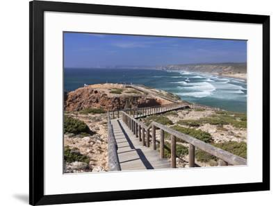 Praia da Borderia beach, Carrapateira, Costa Vicentina, west coast, Algarve, Portugal, Europe-Markus Lange-Framed Photographic Print