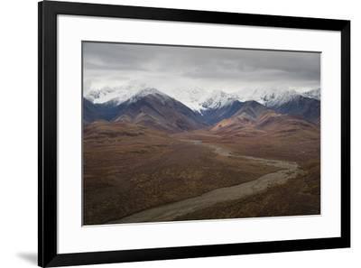 Polychrome Mountain range in Denali National Park, Alaska, United States of America, North America-JIA JIAHE-Framed Photographic Print