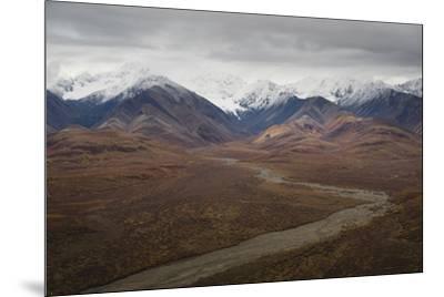Polychrome Mountain range in Denali National Park, Alaska, United States of America, North America-JIA JIAHE-Mounted Photographic Print