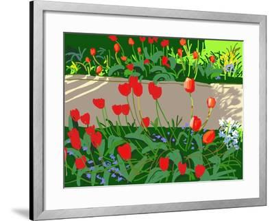 Tulips and Ladybirds, 2017-Andrew Macara-Framed Giclee Print