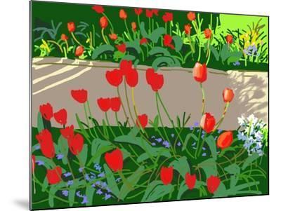 Tulips and Ladybirds, 2017-Andrew Macara-Mounted Giclee Print