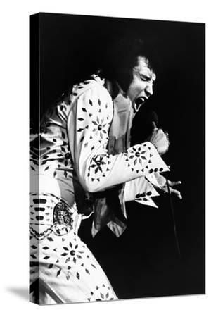 Elvis on Tour, Elvis Presley, 1972--Stretched Canvas Print