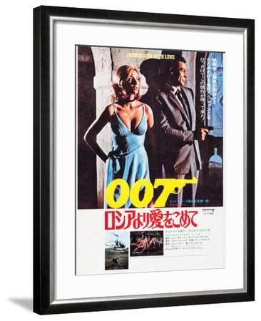 From Russia with Love, Japanese Poster Art, Top from Left: Daniela Bianchi, Sean Connery, 1963--Framed Art Print