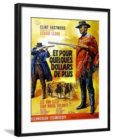 For a Few Dollars More, Clint Eastwood on French Poster Art, 1965--Framed Art Print