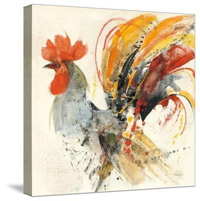 Festive Rooster II-Albena Hristova-Stretched Canvas Print