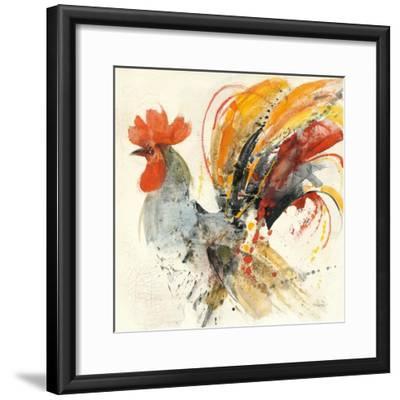 Festive Rooster II-Albena Hristova-Framed Art Print