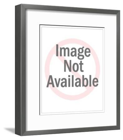 Chicago - Cloud Retro--Framed Premium Giclee Print