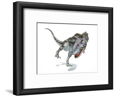 Majungasaurus Dinosaur, Artwork--Framed Art Print