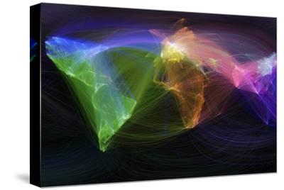 Map of Scientific Collaboration--Stretched Canvas Print