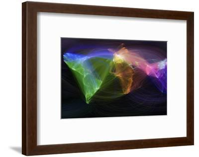 Map of Scientific Collaboration--Framed Photographic Print