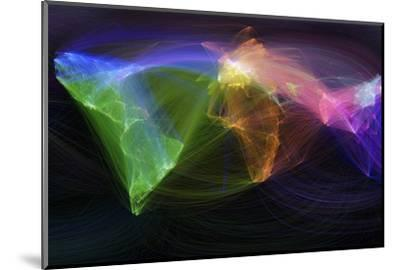 Map of Scientific Collaboration--Mounted Photographic Print