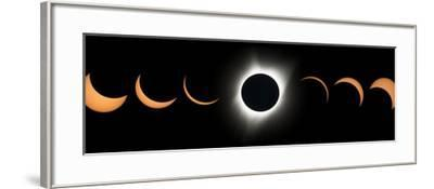 2017 Total Solar Eclipse, Composite Image--Framed Photographic Print