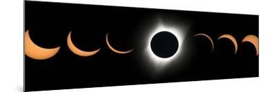 2017 Total Solar Eclipse, Composite Image--Mounted Photographic Print