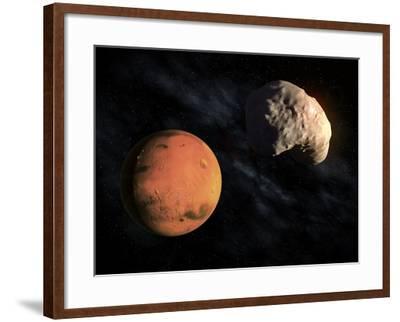 Mars and Deimos, Artwork--Framed Photographic Print
