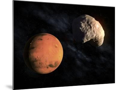 Mars and Deimos, Artwork--Mounted Photographic Print