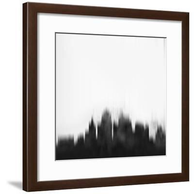 Kansas City Skyline - Black-NaxArt-Framed Art Print