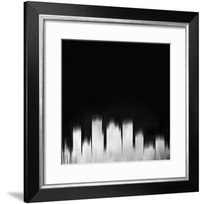 Phoenix City Skyline - White-NaxArt-Framed Art Print