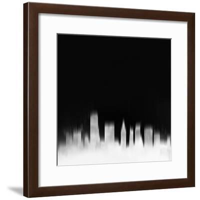 Miami City Skyline - White-NaxArt-Framed Art Print