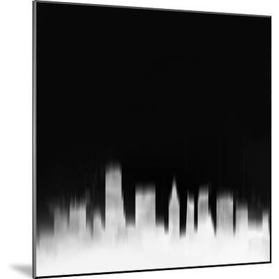 Miami City Skyline - White-NaxArt-Mounted Art Print