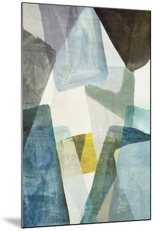 Blue Geometric II-PI Studio-Mounted Art Print
